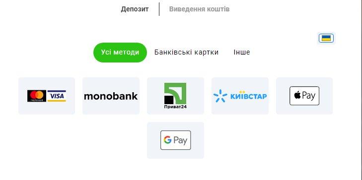 Платіжні методи