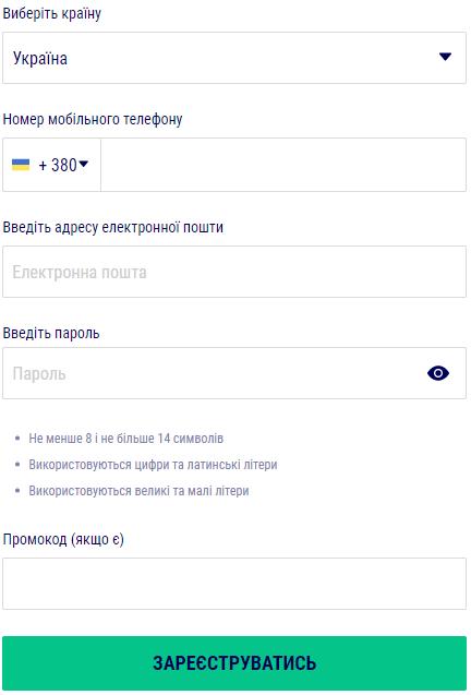 Favbet Процес реєстрації